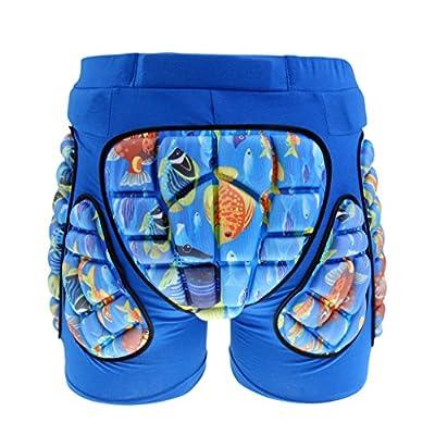 MonkeyJack Kids Children Hip Pad Protector Guard Ski Roller Skating Snow Board Cycling Padded Shorts : Clothing