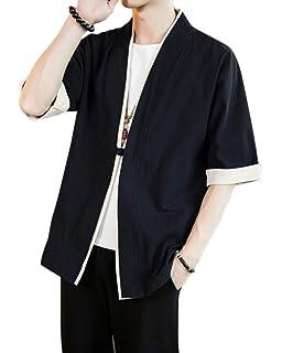 PengGengA Verano Cloak Cárdigan Kimono Japón Capa para Hombres Mujeres Kimono Jacket…