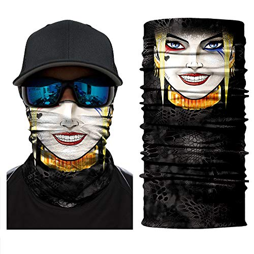 Jutoe V3D Face Sun Mask, Neck Gaiter, Headwear, Magic Scarf, Balaclava, Bandana, Headband Fishing, Hunting, Yard Work, Running, Motorcycling, UV Protection, Scarf Great Men & Women