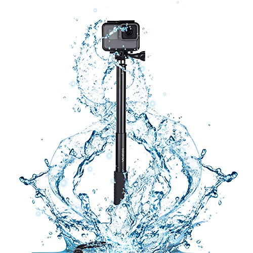 Vicdozia Extension Stick, 28.5'' Hand Grip Extendable Monopod Adjustable Pole Waterproof Handle Compatible with GoPro Hero 8 7 6 5 4 Session SJCAM AKASO Xiaomi Yi and More/Compact Cameras/Cell Phones