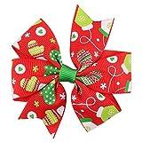Sunbona Hair Clips for Women Girls Baby Girls Christmas Ornaments Bowknot Hairpin Headdress H