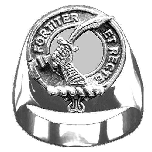 Scottish Clan Crest Elliott Ring GC100 Style - Clan Crest Ring