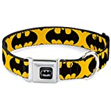 "Buckle-Down BMQ Batman Full Color Black/Silver Dog Collar, L - Fits 15-26"" - 1.0"" Wide"