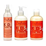 Shea Moisture Kids Hair Care Combination Pack – Includes Mango & Carrot 8oz KIDS Extra-Nourishing Shampoo, 8oz KIDS Extra-Nourishing Conditioner, and 8oz Coconut & Hibiscus KIDS Detangler