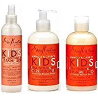 Shea Moisture Kids  Nourishing Conditioner, and 8oz Coconut & Hibiscus KIDS Detangler