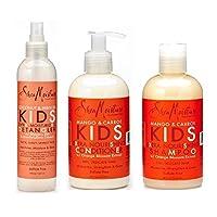 Shea Moisture Kids Hair Care Combination Pack – Includes Mango & Carrot 8oz K...