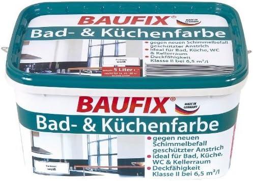 Baufix De Salle De Bain Cuisine Couleur Blanc Mat 5 L