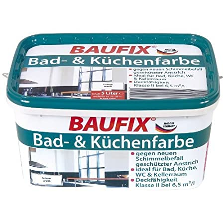 Wondrous Baufix Bathroom Kitchen Paint Matt White 5 Litre Amazon Interior Design Ideas Gresisoteloinfo