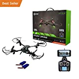 HOLIDAY SPECIAL! Contixo F6 RC Quadcopter Racing Drone 2.4Ghz 720P Rotating HD Video Wifi Camera Live FPV Headless Mode 2 Batteries included 18min Fly Time VR Compatible - Best Gift For Christmas
