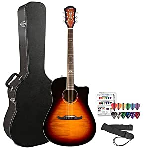 fender california series t bucket 300ce flame maple top cutaway dreadnought acoustic. Black Bedroom Furniture Sets. Home Design Ideas