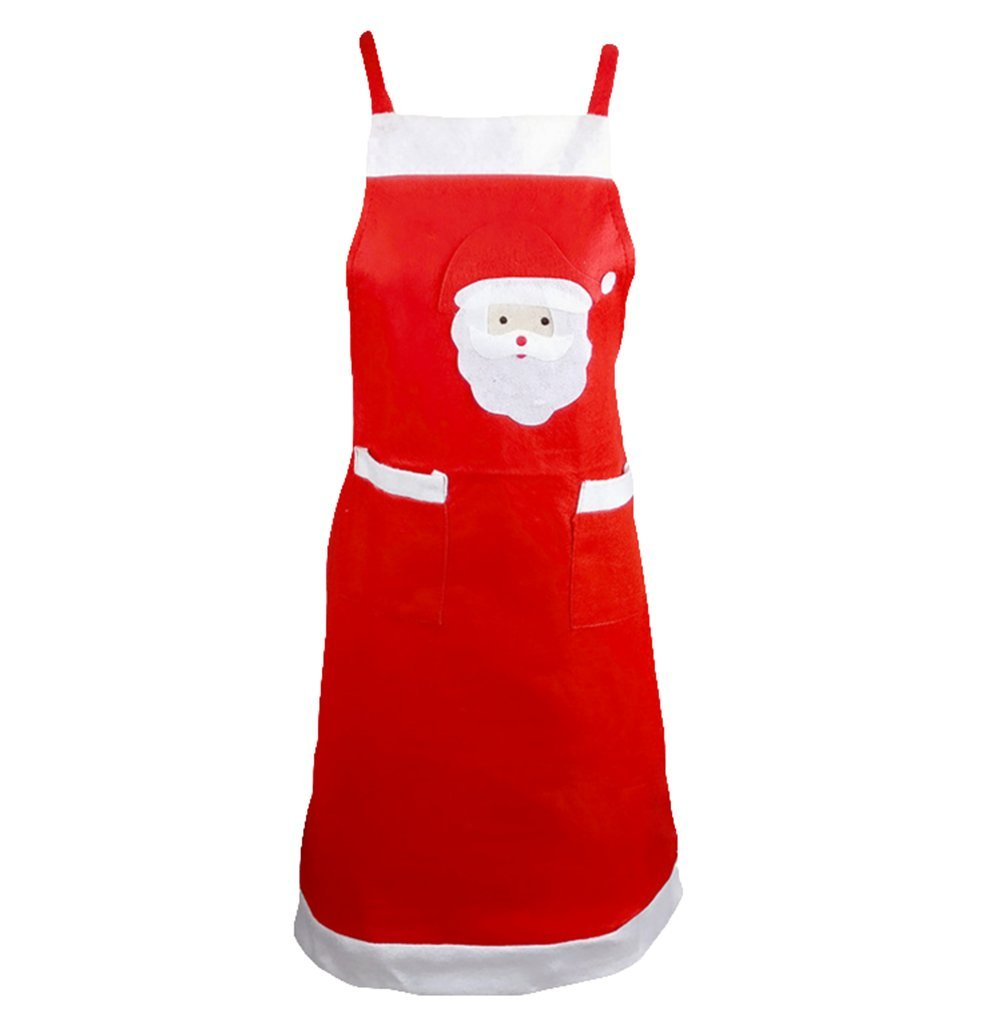 Da.Wa Cute Santa Claus Apron Cooking Baking Chef Apron for Christmas Decoration Gift
