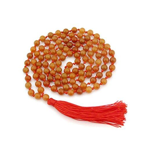 OVALBUY Hand Knotted Dongling Grade A 6mm 108 Beads Buddhist Prayer Japa Mala for Meditation