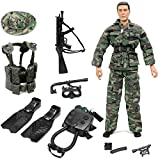 Click N' Play Special Ops Navy Seal Swat Team 12'' Action Figure Play Set with Accessories