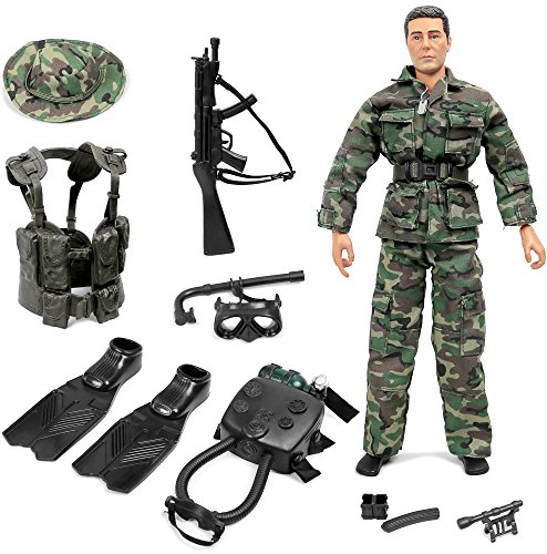 Inch Figures 12 Military (Click N' Play Special Ops Navy Seal Swat Team 12