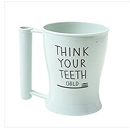 Cepillo de dientes Copa Baño establece cepillo de dientes y cómodo trigo potable pajita taza Wash