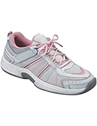Orthofeet 916 Womens Comfort Diabetic Extra Depth Sneaker Shoe Leather-and-Mesh Lace