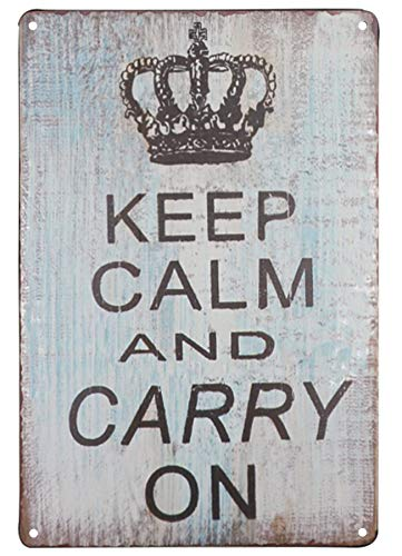 SKYC Keep Calm and Carry on Vintage Tin Signs Wall Art Decor Retro Decoration for Home Coffee Bar Signs 8