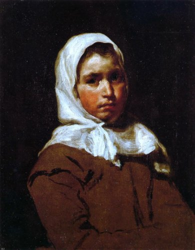 Young Diego (Diego Velazquez Young Peasant Girl - 21.1