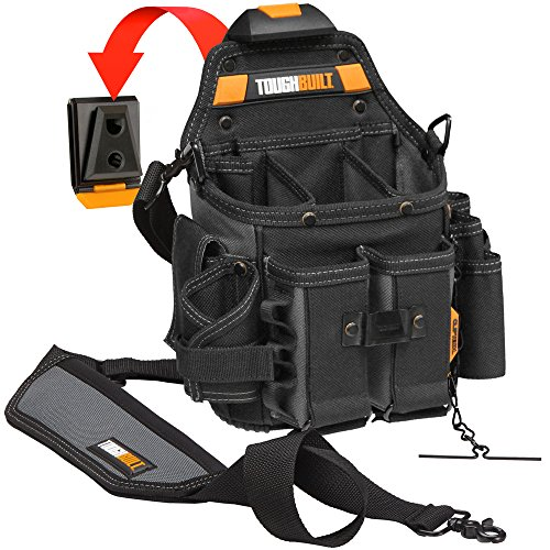Toughbuilt   Journeyman Electrician Pouch   Shoulder Strap  Adjustable Flashlight Holder  Adjustable Tool Pockets  21 Pockets And Loops   Patented Cliptech Hub   Belts   Tb Ct 114 2