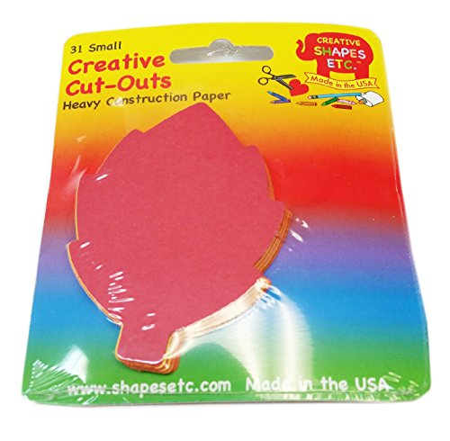 Leaf Small Assorted Color Creative Cut-Outs