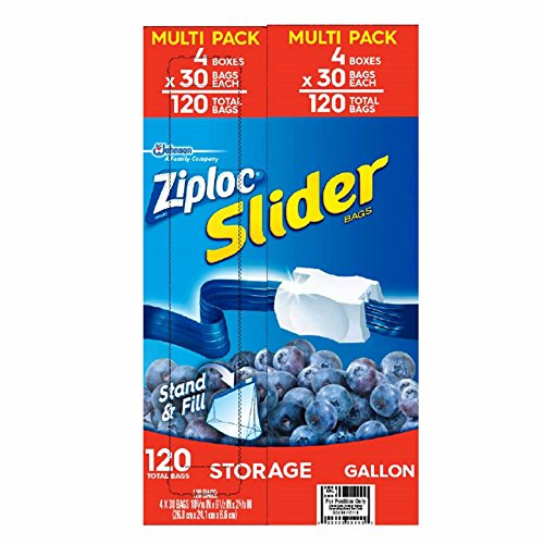 Product of Ziploc Slider Storage Bags, Gallon Size, 120 ct. – Food Storage Bags & Containers [Bulk Savings]