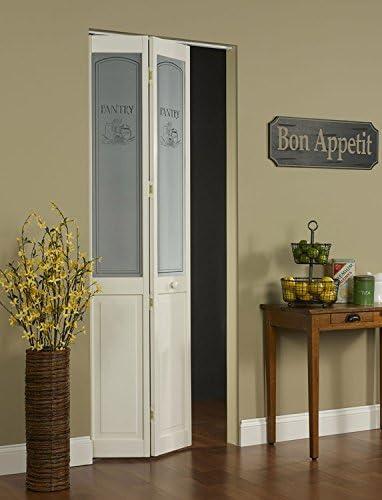 pinecroft 864720 Pantry mitad cristal Bifold interior puerta de madera: Amazon.es: Bricolaje y herramientas
