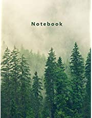 """Notebook: Composition Notebook. College ruled. 120 Pages. Perfect for school notes, Ideal as a journal or a diary. 9.69"""" x 7.44"""". (Forest, fog. Soft matte cover)."""