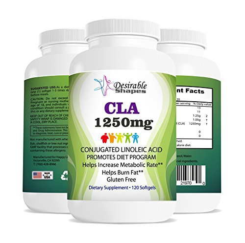 CLA Supplement 1250mg for Weight Loss & Management Diet Conjugated Linoleic Acid Capsules for Women and Men Safflower Oil Softgel