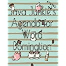 Java Junkie's Agenda for Word Domination (Adulting Authors - Organizers for Dual Personalities) (Volume 8)