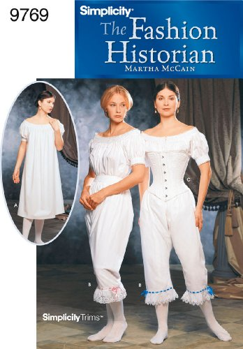 Simplicity Sewing Pattern 9769 Misses Costumes, HH (6-8-10-12)