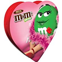 M&M'S Valentine's Day Milk Chocolate Candy Fun Size Pouches in a Heart Gift Box