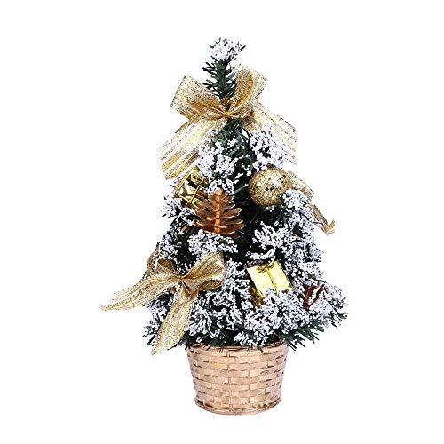 Christmas Gift Hot Sale!!!Kacowpper Mini Christmas Tree Ornament Desk Table Festival Xmas Party Decor Gifts 25cm]()