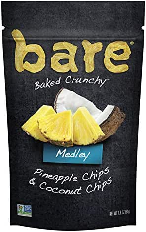 Dried Fruit & Raisins: Bare Pineapple & Coconut Medley