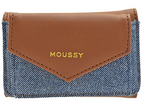 (マウジー) moussy 財布 三つ折り 折財布 ミニウォレット 合成皮革 GISELE M3 TRIFOLD WALLET m01200003 B07CJXXWRQ デニム×ブラウン デニム×ブラウン