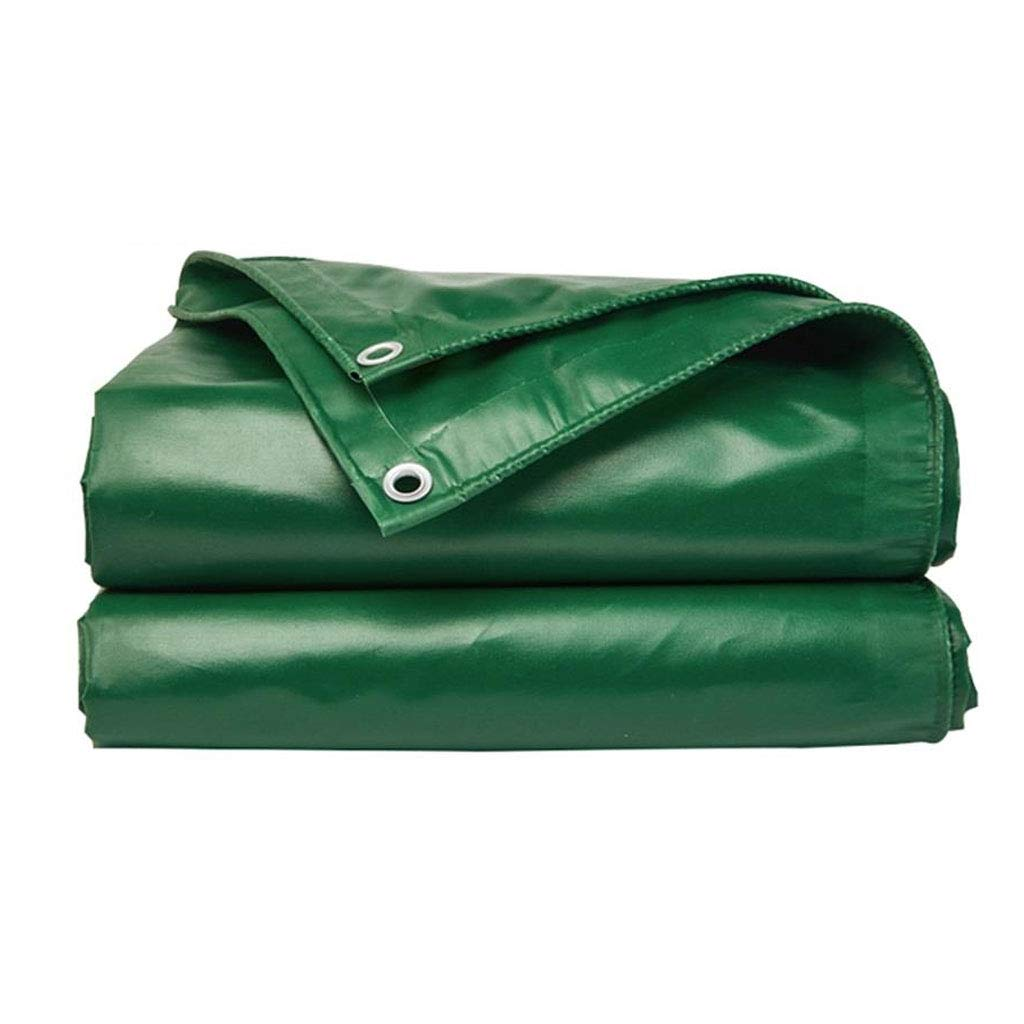 タープ グリーンターポリンキャンバス強力な防水日保護ファミリーのキャンプに使用キャンプガーデン屋外高品質の保護層、厚さ0.4mm、450g / m2、10サイズオプション、ノート:与えるロープ (サイズ さいず : 6 * 5m) 6*5m  B07H254TV3