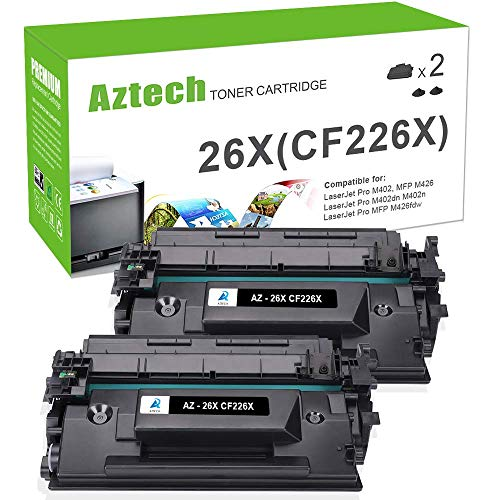 Aztech Compatible Toner Cartridge Replacement for HP 26X CF226X 26A CF226A (Black, 2-Packs) (Start A Low Cost High Profit Business)