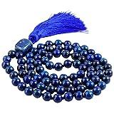 SUNYIK Lapis Lazuli Wrap Bracelet,Beaded Necklace Tibetan Buddhist Prayer Beads