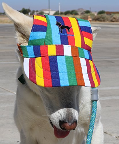 LoveWally Dog Outdoor PET Hat Rainbow ♦ Adjustable Authentic (Large) by LoveWally (Image #1)