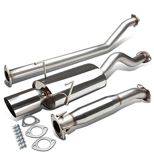 Oval Exhaust System - For Acura RSX Type-S Stianless Steel 4