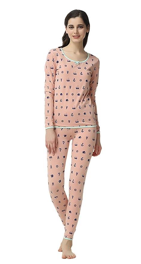 Mujer Batas Elegante Manga Largo Cuello Redondo Estampadas Ropa para Basic El Hogar Primavera Otoño Ocasional Conjunto De Pijama Fashion Pijamas Mujer ...
