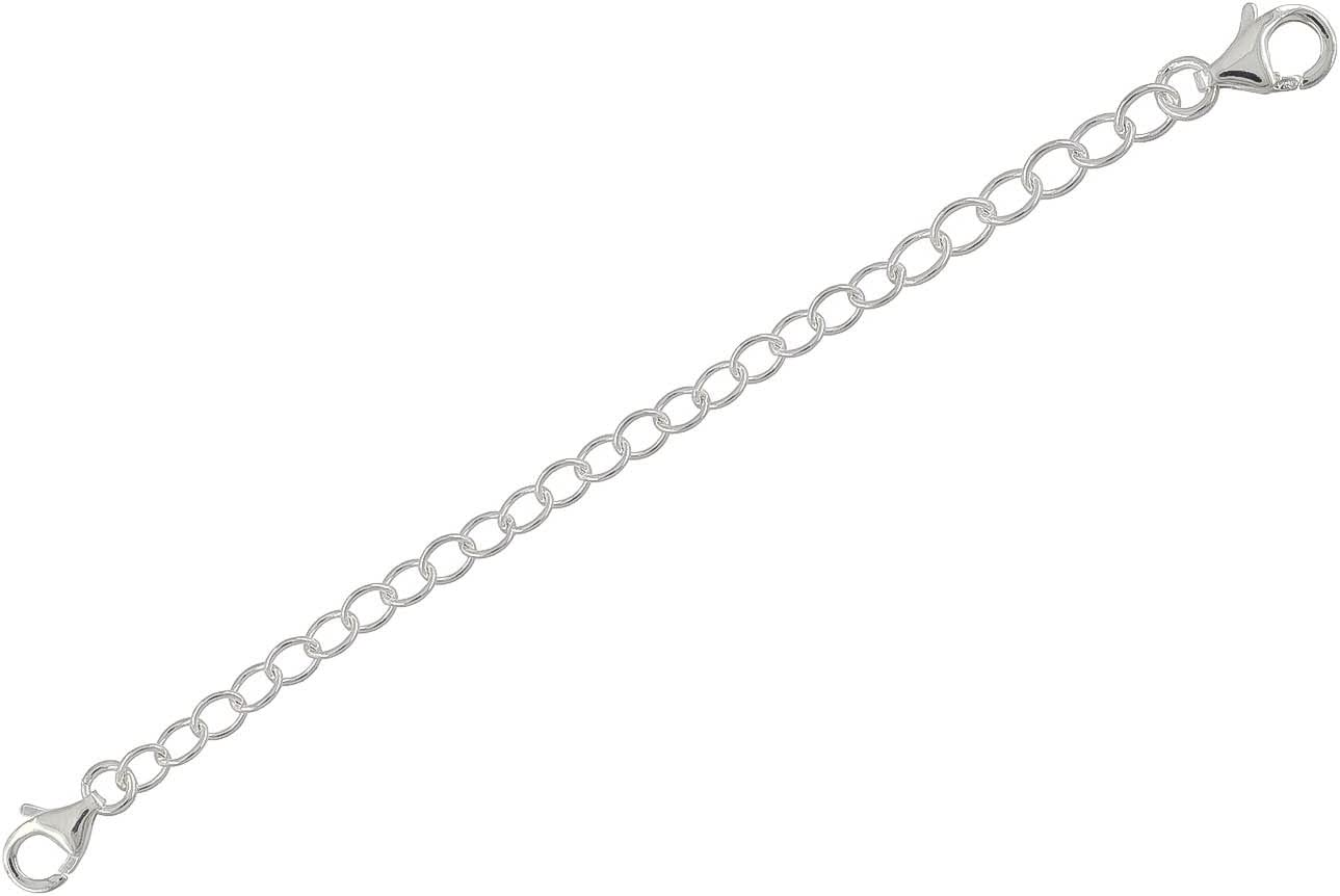 Connector for Necklace Safety Chain Bracelet 1 PC Sterling Silver Extender