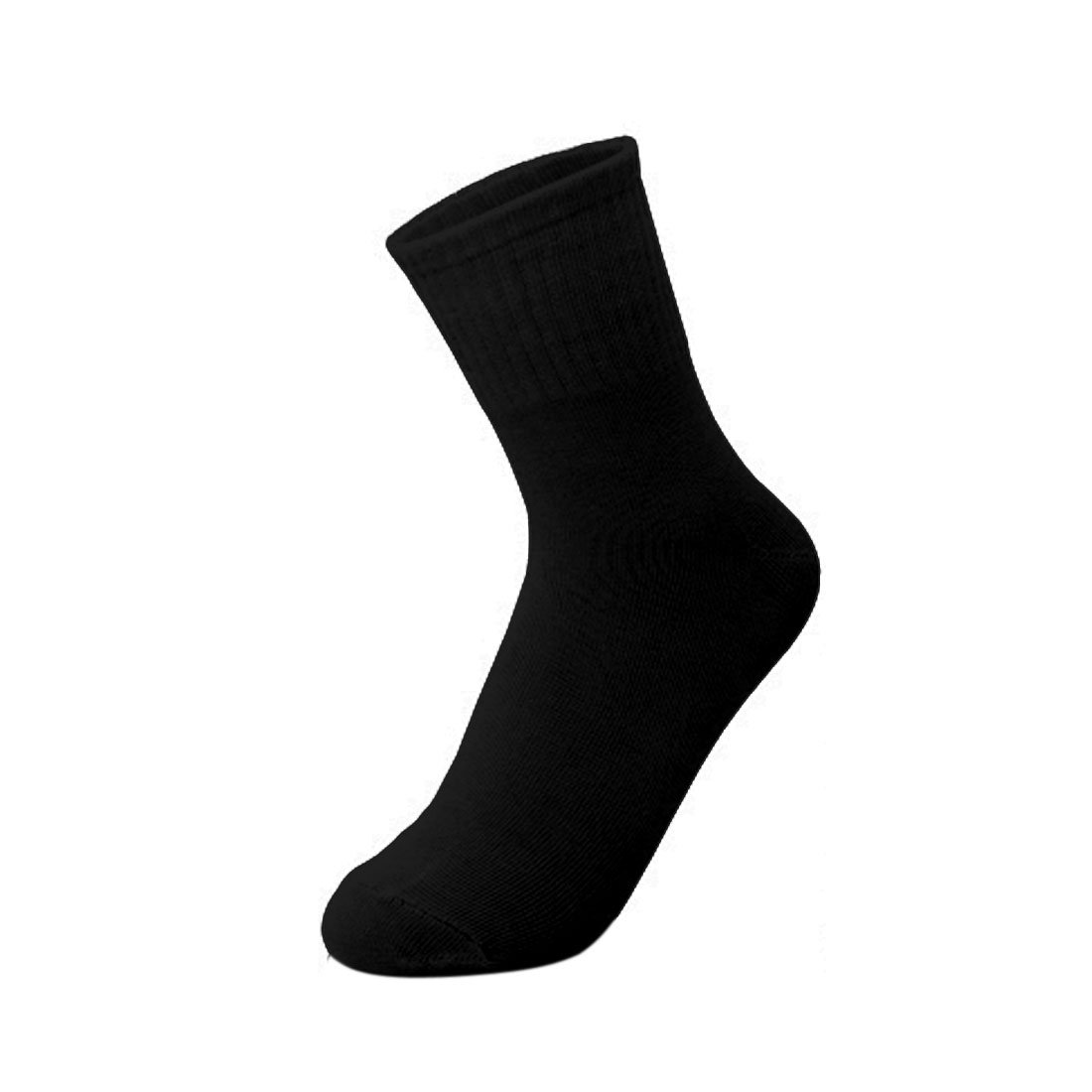 uxcell 5 Pair Women Black One Size Portable Disposable Replacing Stretchy Socks for Travel Business