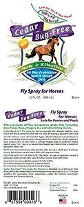 Horse Fly Spray - Cedar Bug-Free Horse Fly Spray. Kills Flies. Fly Repellent - 32 oz