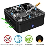 NOTENS Multifunctional Ashtray Air Purifier, High Air Volume Dust-Free Smokeless Activated Carbon Filter to Clean Secondhand Smoke Rechargeabe USB Charging Protect Family Health for Home Office Car