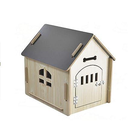 Jnzr Casa de Perro, Casa de Madera para Mascotas Uso ...