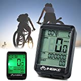 Waterproof Design 11 Function Day/Night Bicycle Computer LCD Backlight Multifunction Digital Sport Cycling Wireless Sensor Speedometer Fits All Bikes Easy Install and Operate BK141