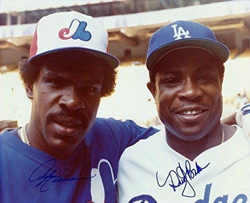 - Autographed Andre Dawson Montreal Expos & Dusty Baker Dodgers 8x10 photo - COA