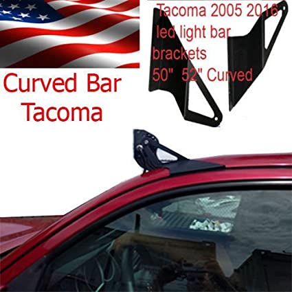 50 Curved Off Road Led Light Bar Roof Top Mount Brackets For 2005 2015 Toyota Tacoma