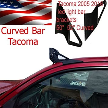 Amazon 50 curved off road led light bar roof top mount 50quot curved off road led light bar roof top mount brackets for 2005 2015 toyota mozeypictures Images