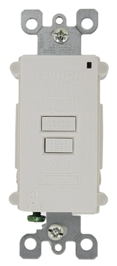 Leviton 7590-W 20 Amp 120 Volt, SmartlockPro Blank Face GFCI, with ...